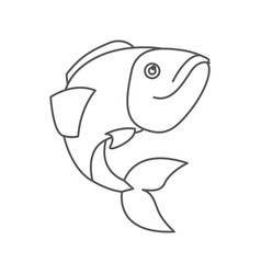 Sketch silhouette of largemouth bass fish vector