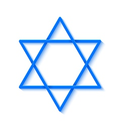 Star of David Isolated on White Background vector image