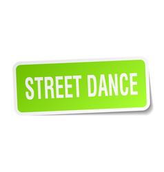 Street dance square sticker on white vector