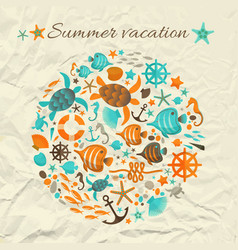 summer vacation design concept vector image