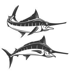 Swordfish icons vector