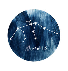 the aquarius constellation vector image