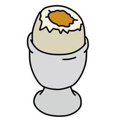 The half boiled egg vector