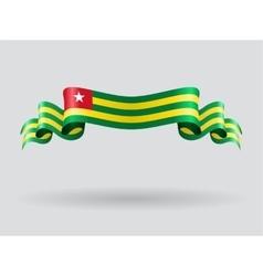 Togo wavy flag vector image