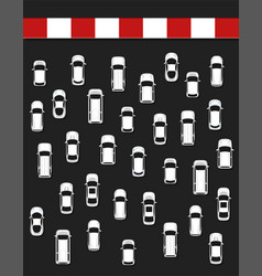 traffic jam concept top view vector image