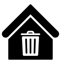 Trash House Flat Icon vector