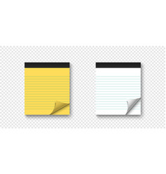 two realistic notebooks with curled corner and vector image