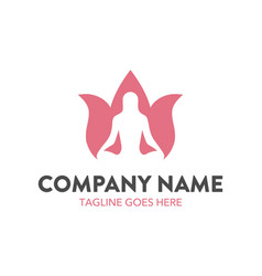 Unique beauty logo template vector