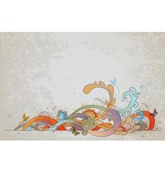 vintage swirl vector image vector image