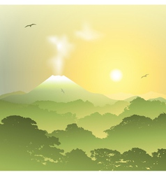 Volcano Landscape vector image