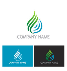 water drop ecology abstract logo vector image