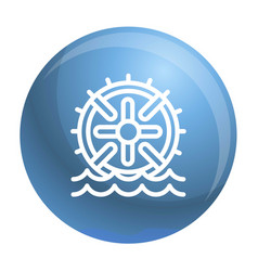 Water wheel energy icon outline style vector