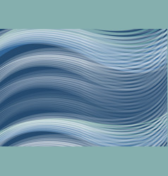 white waves of dark blue background abstract vector image