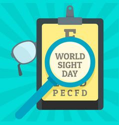 World sight day concept background flat style vector