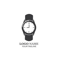 Wristwatch icon template design vector