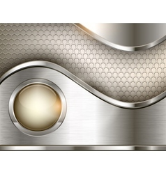 Abstract background with a metallic element vector image vector image