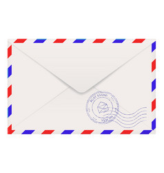air mail envelope back side vector image vector image