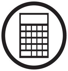 Device calculator icon black white vector image vector image
