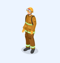 figure of a fireman in uniform professional vector image vector image