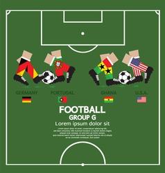 Group g 2014 football tournament vector