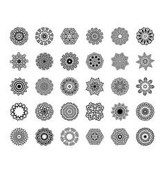 mandala patterns set round ornament vector image