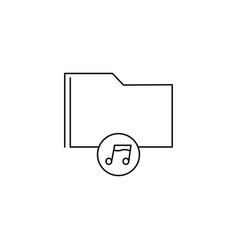 music folder icon vector image vector image