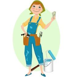 Save money on renovation vector