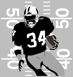 Football player rules vector image vector image