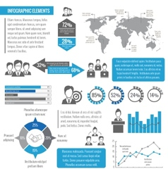 Teamwork business infographic vector image vector image