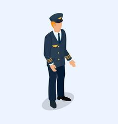 aviator pilot figure isolated on a light vector image