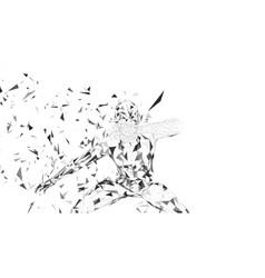 conceptual abstract man hiding his face with hand vector image