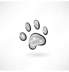 dog track grunge icon vector image vector image