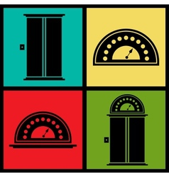Elevator icons vector image