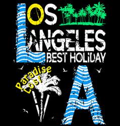 los angeles typography design vector image