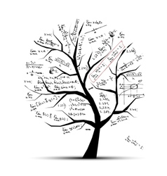 Math tree for your design vector image vector image