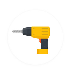 electric screwdriver icon flat style vector image