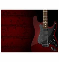 guitar vector image
