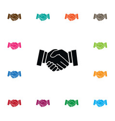 Isolated handshake icon meeting element vector
