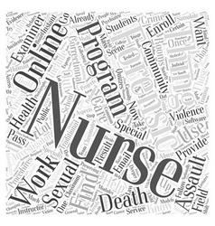 Online forensic nursing program word cloud concept vector