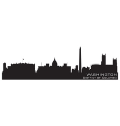 washington district of columbia skyline detailed s vector image vector image