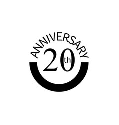20 anniversary sign element of anniversary sign vector image
