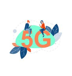 5g internet communication concept vector image