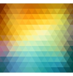 Abstract geometric background with orange blue vector image