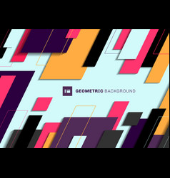 abstract geometric colorful diagonal overlapping vector image