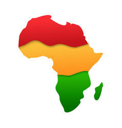 african map continent silhouette icon in paper cut vector image