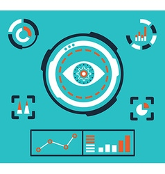 analytics information on dashboard an vector image