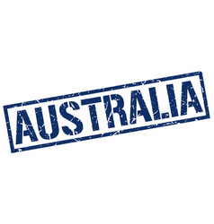 Australia blue square stamp vector