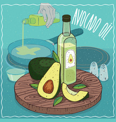 avocado oil used for frying food vector image