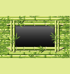 bamboo frame for blackboard vector image