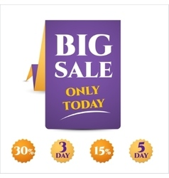 banner template discounts big sale vector image